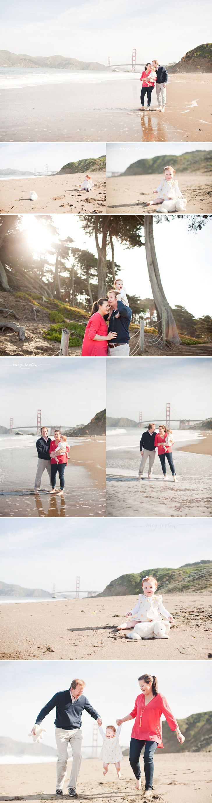 san francisco family session on baker beach